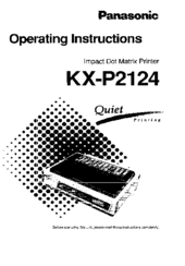 Panasonic KX-P2124 Manuals