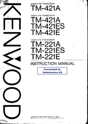 Kenwood TM-421E Manuals