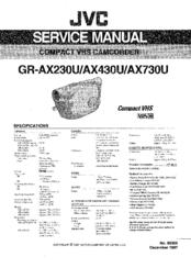 Jvc GR-AX230U Manuals