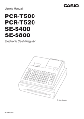 Casio SE-S800 Manuals