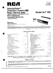 Rca SelectVision SJT 400 Manuals