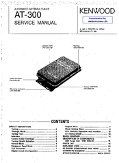 Kenwood AT-300 Manuals
