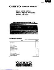 Onkyo M-5060 Manuals