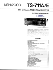 Kenwood TS-711A Manuals
