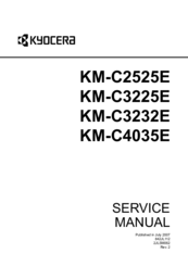 Kyocera KM-C4035E Manuals