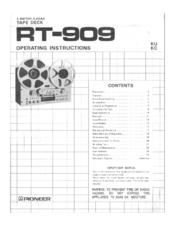 Pioneer RT-909 Manuals
