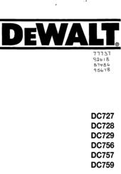 Dewalt DC759 Manuals