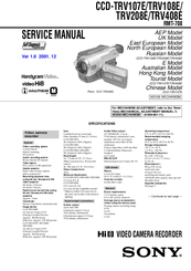 Sony Handycam Vision CCD-TRV408E Manuals