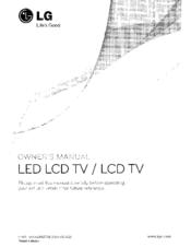 Lg 32LD320 Manuals