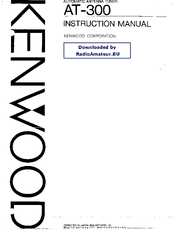 Kenwood AT-300 Manuals