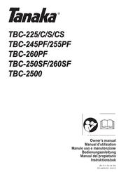 Tanaka TBC-225 Manuals