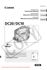 CANON DC20 MANUAL PDF