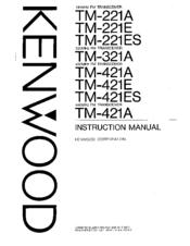 Kenwood TM-321A Manuals