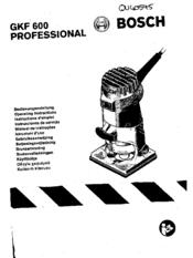 Bosch GKF 600 Professional Manuals