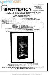 Potterton Netaheat Electronic 16/22 Manuals