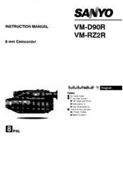 Sanyo VM-RZ2R Manuals