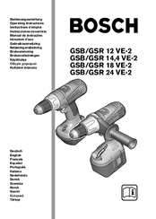 Bosch Gsb 24 ve-2 Manuals