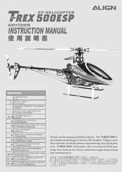 Align Trex 500ESP Manuals