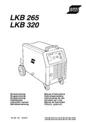 Esab LKB 265 Manuals