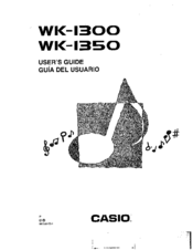 Casio WK-1350 Manuals