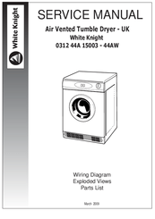 White Knight 0312 44A 15003 44AW Manuals