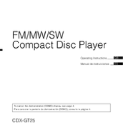 Sony Cdx Gt25 Wiring Diagram Ef Falcon Operating Instructions Manual Pdf Download