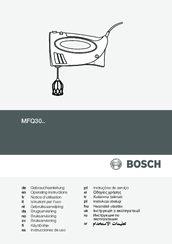 Bosch MFQ30 Series Manuals