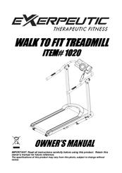Exerpeutic 1020 Manuals