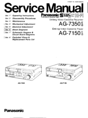 Panasonic AG-7350 Manuals