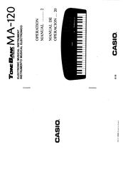Casio MA-120 Manuals
