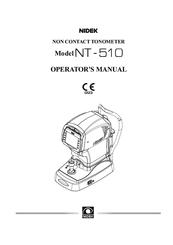 Nidek Medical NT-510 Manuals