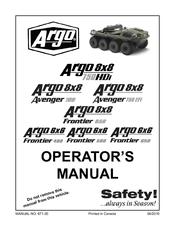 Argo 6x6 Frontier 580 Manuals