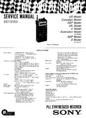 Sony ICF-PR070 Manuals