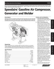 Speedaire 15D802 Manuals