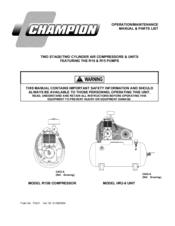 Champion R15B Manuals