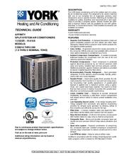 York CZB02411 Manuals