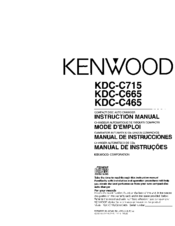 Kenwood KDC-C465 Manuals