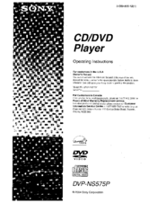 Sony DVP-NS575P Manuals