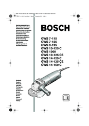 Bosch GWS 10-125 C Manuals