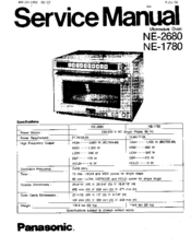 Panasonic NE-1780 Manuals