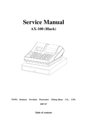 Towa AX-100 Manuals