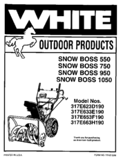 White Snow Boss 950 Manuals