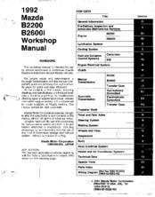 Mazda B2200 1992 Manuals