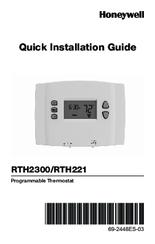 honeywell thermostat rth2300b1038 wiring diagram goodman gas furnace rth2300 quick installation manual pdf download