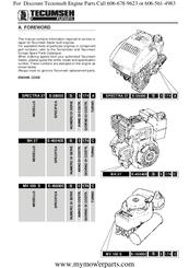 Tecumseh MV 100 S Manuals