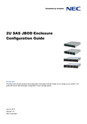 Nec 2U SAS JBOD Enclosure Manuals