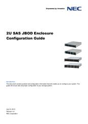Nec 2U SAS JBOD Enclosure Manuals