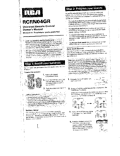 Rca RCRN04GR Manuals