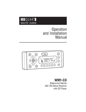Mb Quart WM1-CD Manuals