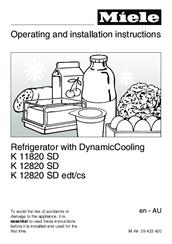 Miele K 11820 SD Manuals
